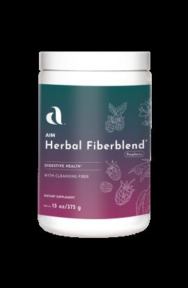 Herbal Fiberblend - 13 oz Natural Raspberry Powder - 6 Pack